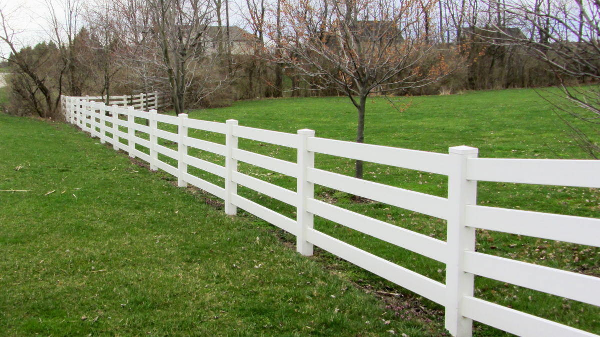 Enjoy the classic beauty and low maintenance of a vinyl fence.