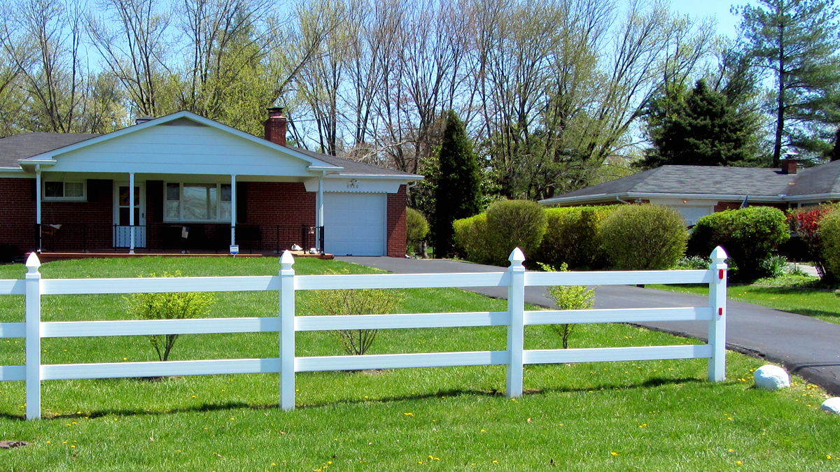 Increase the curb appeal and the value of your home with a vinyl fence.