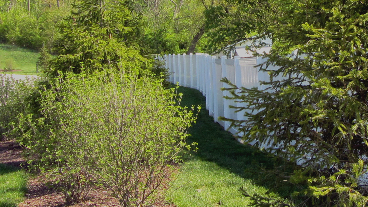A beautiful and long lasting vinyl fence will enhance any landscape.